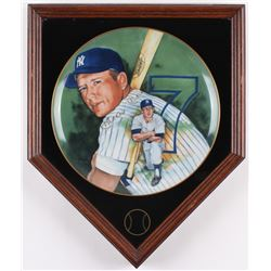 "Mickey Mantle Signed LE ""Mickey"" 13x16 Custom Framed Plate Display (Marigold Authentic)"