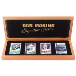 Lot of (4) Dan Marino Limited Edition Porcelain Football Cards with (2) Signed  Display Case (UDA CO