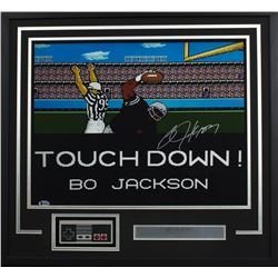 "Bo Jackson Signed ""Tecmo Bowl"" 24x26 Custom Framed Photo Display (Beckett COA)"