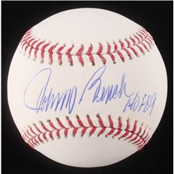 "Johnny Bench Signed OML Baseball Inscribed ""HOF 89"" (Schwartz COA)"