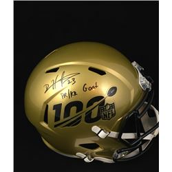 "Devin Hester Signed NFL 100th Anniversary Full-Size Speed Helmet Inscribed ""PR/KR GOAT"" (JSA COA)"