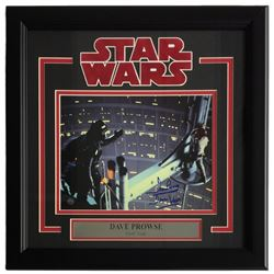 "Dave Prowse Signed ""Star Wars"" 16x17 Custom Framed Photo Display Inscribed ""Darth Vader"" (Steiner CO"