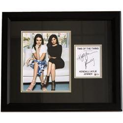 Kendall Jenner  Kylie Jenner Signed 17x20 Custom Framed Cut Display (Beckett COA)