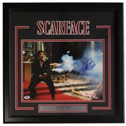 "Al Pacino Signed ""Scarface"" 18x22 Custom Framed Photo Display (PSA COA)"