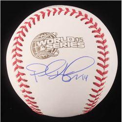 Paul Konerko Signed 2005 World Series Logo Baseball (Schwartz COA)