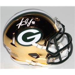 Aaron Jones Signed Green Bay Packers Chrome Speed Mini-Helmet (Beckett COA)