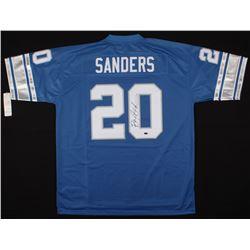 Barry Sanders Signed Vintage Detroit Lions Jersey (Schwartz COA)