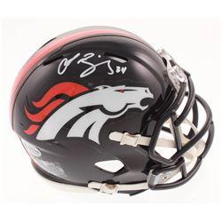 Champ Bailey Signed Denver Broncos Mini Speed Helmet (Beckett COA)