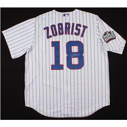 Ben Zobrist Signed Chicago Cubs 2016 World Series Jersey (Schwartz COA)