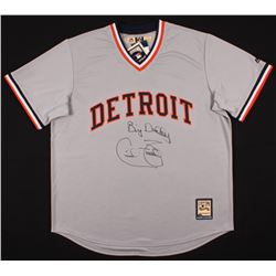 "Cecil Fielder Signed Detroit Tigers Jersey Inscribed ""Big Daddy"" (Schwartz COA)"