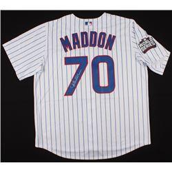 Joe Maddon Signed Chicago Cubs 2016 World Series Jersey (Schwartz COA)