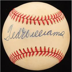 Ted Williams Signed Official 1986 World Series Baseball (Beckett LOA)