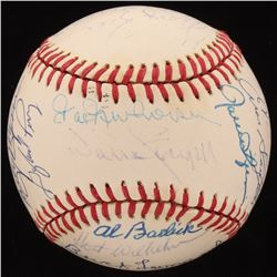 """MLB Hall of Famers ONL Baseball Signed by (24) with Willie Stargell, Brooks Robinson, Jim """"Catfish"""""""