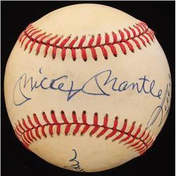 Mickey Mantle, Willie Mays  Duke Snider Signed ONL Baseball (Beckett LOA)