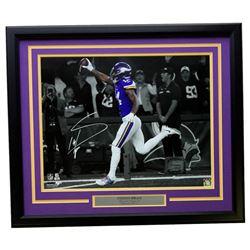 Stefon Diggs Signed Minnesota Vikings 22x27 Custom Framed Photo (SI COA)