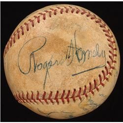 Rogers Hornsby Signed Official Pacific Coast League Baseball (Beckett LOA)