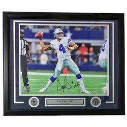Dak Prescott Signed Dallas Cowboys 22x27 Custom Framed Photo Display (JSA COA)