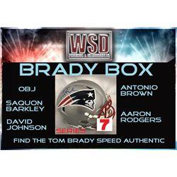 "WSD ""Brady Box"" Full-Size Helmet Mystery Box - Series 7 (Find the Tom Brady Speed Authentic!)"