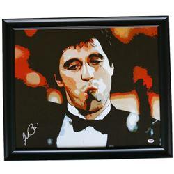"Al Pacino Signed ""Scarface"" 22x25 Custom Framed Canvas Display (PSA Hologram)"