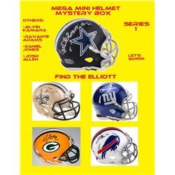 Mega Mini Helmet Mystery Box - Autographed Mini Helmet Series 1 #/100 (Find the Elliottt!)