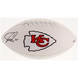 Chris Jones Signed Kansas City Chiefs Logo Football (Beckett COA)