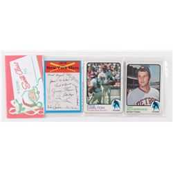 1973 Topps Baseball Unopened Christmas Rack Pack with (12) Cards With Steve Carlton on Top