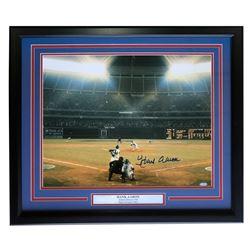 Hank Aaron Signed Atlanta Braves 22x27 Custom Framed Photo Display (Steiner COA)