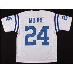 "Lenny Moore Signed Jersey Inscribed ""HOF 75"" (JSA COA)"