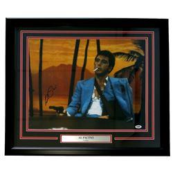 "Al Pacino Signed ""Scarface"" 22x27 Custom Framed Photo Display (PSA COA)"