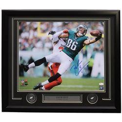 Zach Ertz Signed Philadelphia Eagles 22x27 Custom Framed Photo Display (JSA COA)