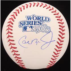 Cal Ripken Jr. Signed 1983 World Series Baseball (Schwartz COA)