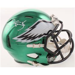 Donovan McNabb Signed Philadelphia Eagles Chrome Speed Mini Helmet (Schwartz COA)