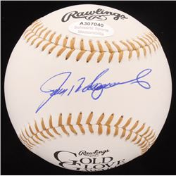 Ivan Rodriguez Signed Gold Glove Award Baseball (Schwartz COA)