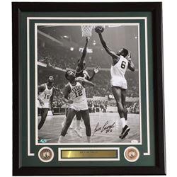 Bill Russell Signed Boston Celtics 22x27 Custom Framed Photo Display (JSA COA)