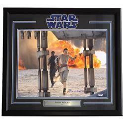 "Daisy Ridley Signed ""Star Wars: The Force Awakens"" 24x30 Custom Framed Photo Display (PSA Hologram)"