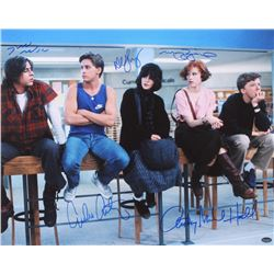 """""""The Breakfast Club"""" 16x20 Photo Signed By (5) With Molly Ringwald, Emilio Estevez, Judd Nelson, Ant"""