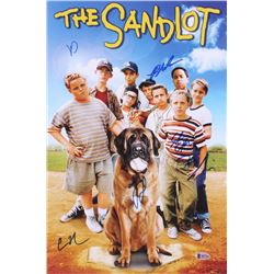 """""""The Sandlot"""" 12x18 Poster Cast-Signed by (6) with Tom Guiry, Marty York, Shane Obedzinski, Victor D"""