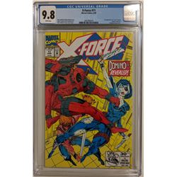 """1992 """"X-Force"""" Issue #11 Marvel Comic Book (CGC 9.8)"""
