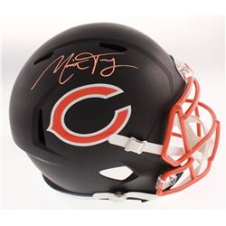 Mitchell Trubisky Signed Chicago Bears Full-Size Matte Black Speed Helmet (Fanatics Hologram)