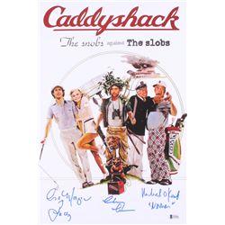 "Cindy Morgan, Michael O'Keefe,  John F. Barmon Jr. Signed ""Caddyshack"" 12x18 Poster Inscribed ""Lacey"