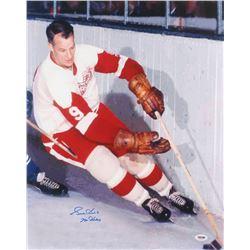 "Gordie Howe Signed Detroit Red Wings 16x20 Photo Inscribed ""Mr. Hockey"" (PSA COA)"