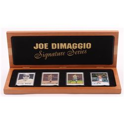 Lot of (4) Joe DiMaggio LE Porcelain Cards with (1) Signed  Display Case (Preferred Customer Service
