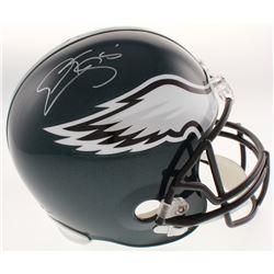Donovan McNabb Signed Philadelphia Eagles Full-Size Helmet (Schwartz COA)