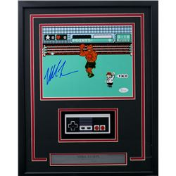 """Mike Tyson Signed """"Punch-Out!!"""" 15x19 Custom Framed Photo Display with Nintendo Controller (JSA COA)"""