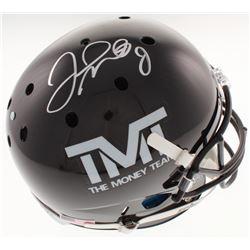 """Floyd Mayweather Jr. Signed """"The Money Team"""" Full-Size Helmet (Schwartz COA)"""