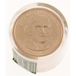 Ballistic Roll of (12) Uncirculated 2007-P Thomas Jefferson Presidential Dollars