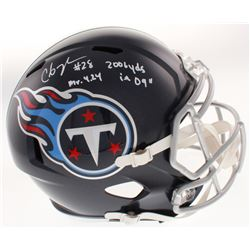 """Chris Johnson Signed Tennessee Titans Full-Size Speed Helmet Inscribed """"Mr. 4.24""""  """"2006 Yrds in 09"""""""