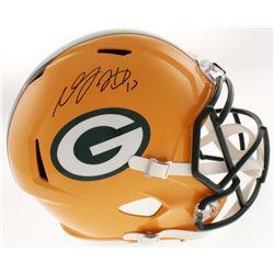 Davante Adams Signed Green Bay Packers Full-Size Speed Helmet (JSA COA)