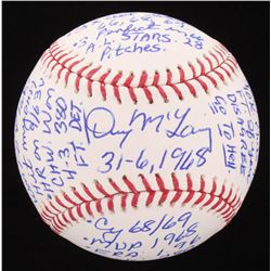 Denny McLain Signed OML Baseball with Extensive Inscription (Hollywood Collectibles COA)