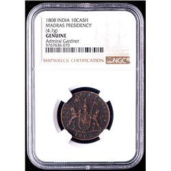 1808 Admiral Gardner Shipwreck 10 Cash Coin (NGC Encapsulated)